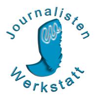 Journalistenwerkstatt Logo, Texte schreiben lassen, Website Texte kaufen
