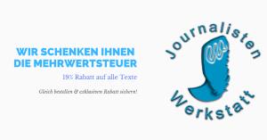 Journalistenwerkstatt Rabatt günstig Webseitentexte kaufen