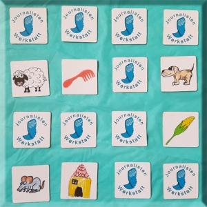 digitales Memory Spiel Reime finden Kindergarten ohne Lesen Grundschule Journalistenwerkstatt interaktiv digital animiert
